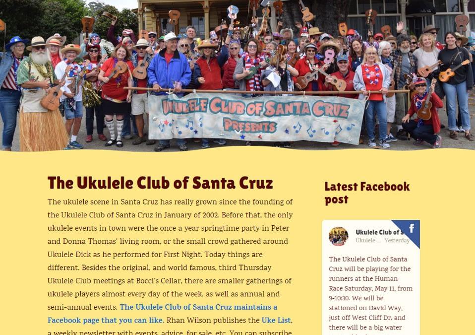 web • Ukulele Club of Santa Cruz