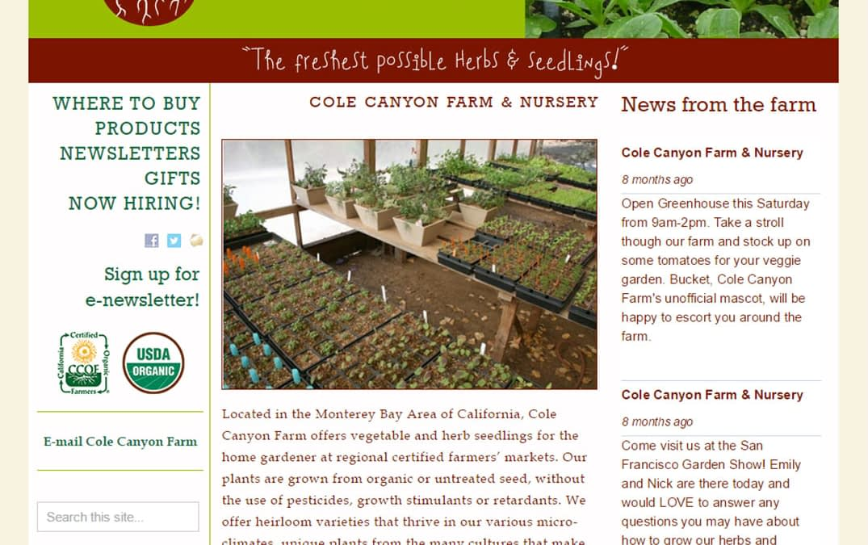 web • Cole Canyon Farm