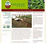 Cole Canyon Farm website