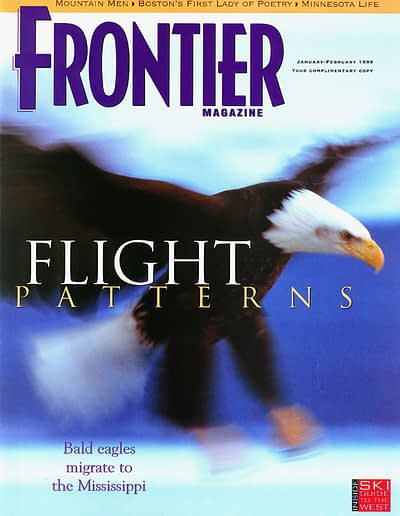 Frontier Magazine cover with eagle flying